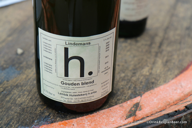 The h. ertie Golden Blend, with six different years of Lindemans lambics from 18 different barrels.