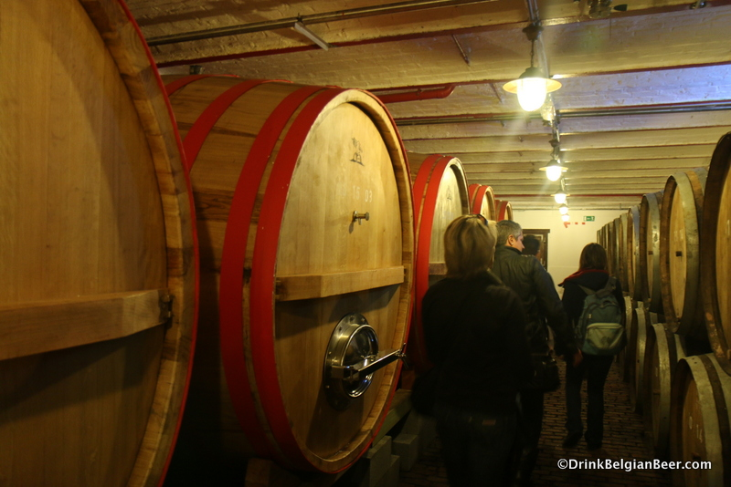 Foeders on the left side in this shot, and smaller barrels on the right, at Timmermans.
