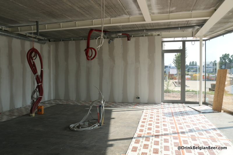 The future tasting room at Het Nest in Turnhout.