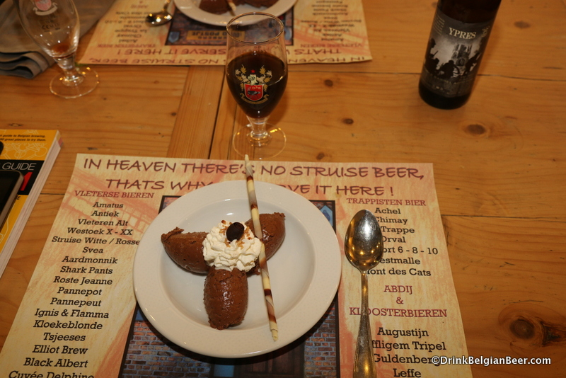 The dessert from my 2014 meal at Molenhof: chocolate mouse topped with whipped cream.