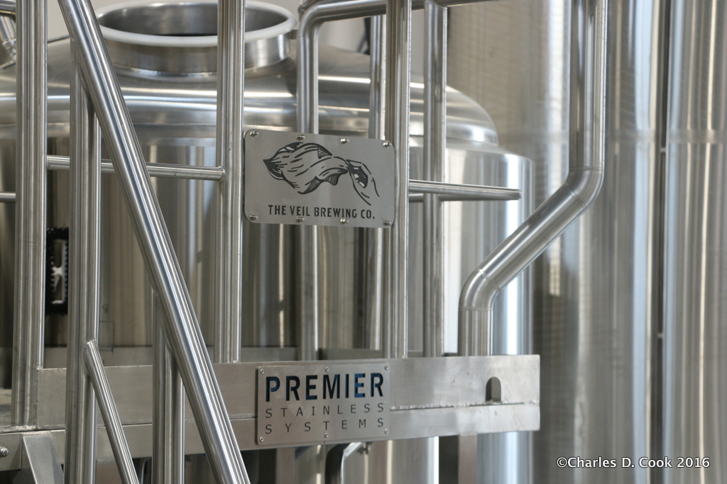 The Premier Stainless systems brewhouse at The Veil Brewing Company.