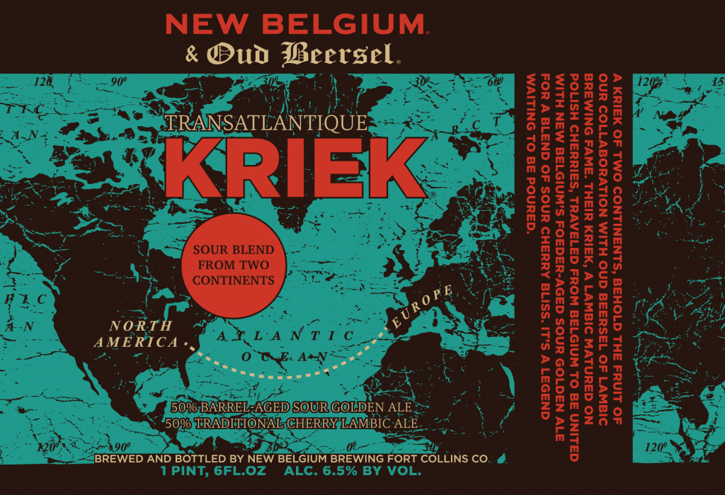 Transatlantique Kriek label.
