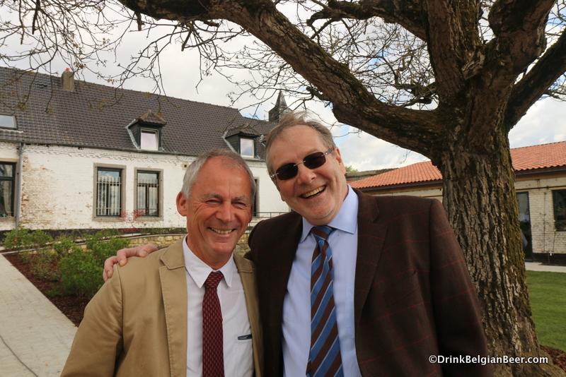 Left, brewing legend Willem van Herreweghen, and right, Timmermans owner Anthony Martin.
