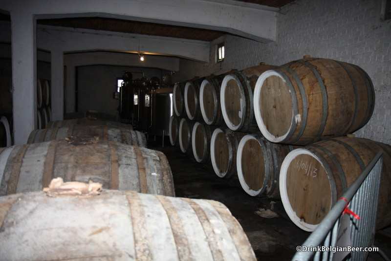 Barrel room at De Troch.