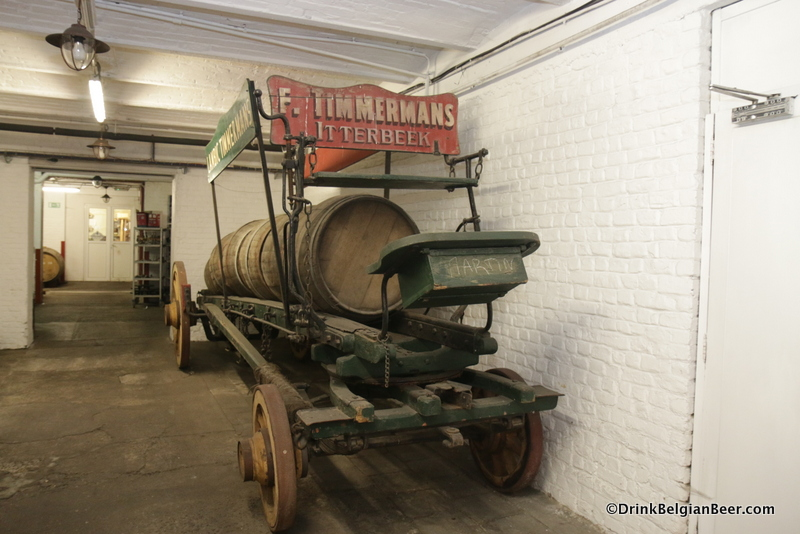 An old beer wagon at Timmermans.