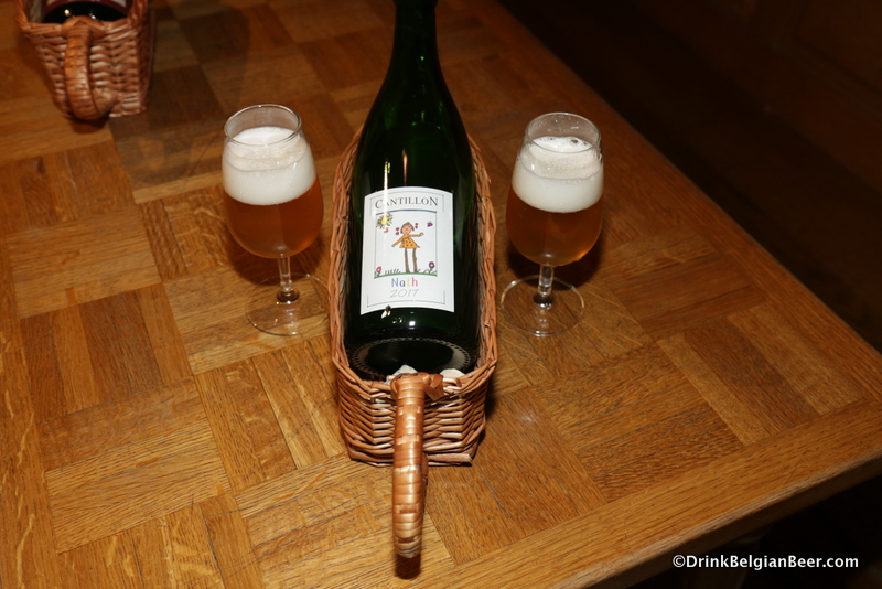 Cantillon Nath, savored during my November 2017 visit to the brewery. This beer is a tribute to Jean's wife, Nathalie. See text above for more details.
