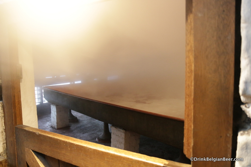 After a few minutes, this is all you can see in the coolship room.