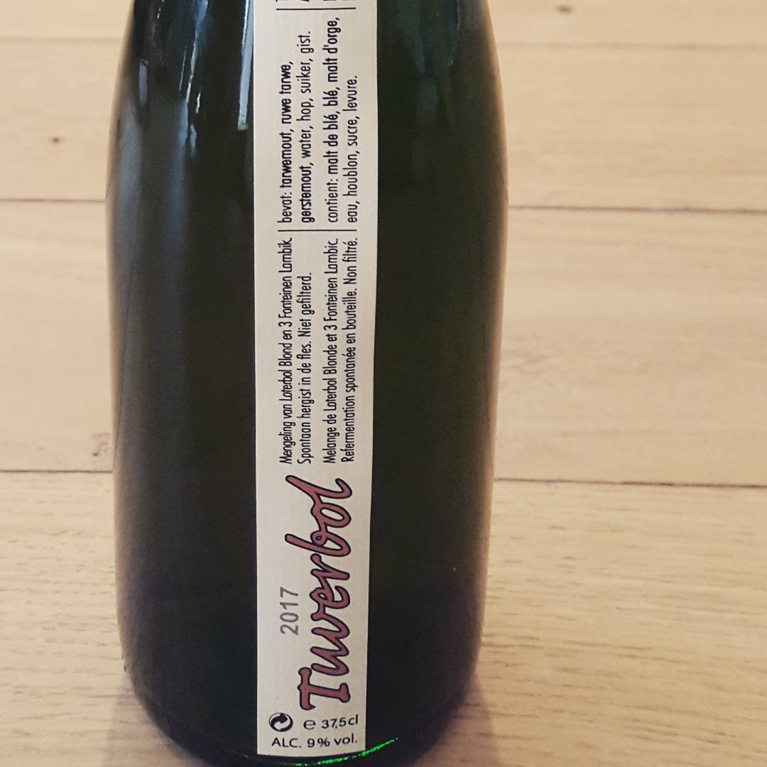 Tuverbol, a blend of 3 Fonteinen lambic and Loterbol Blond from Brouwerij Loterbol.