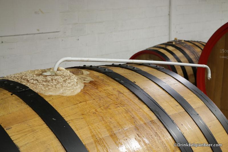 Active fermentation inside a foeder.