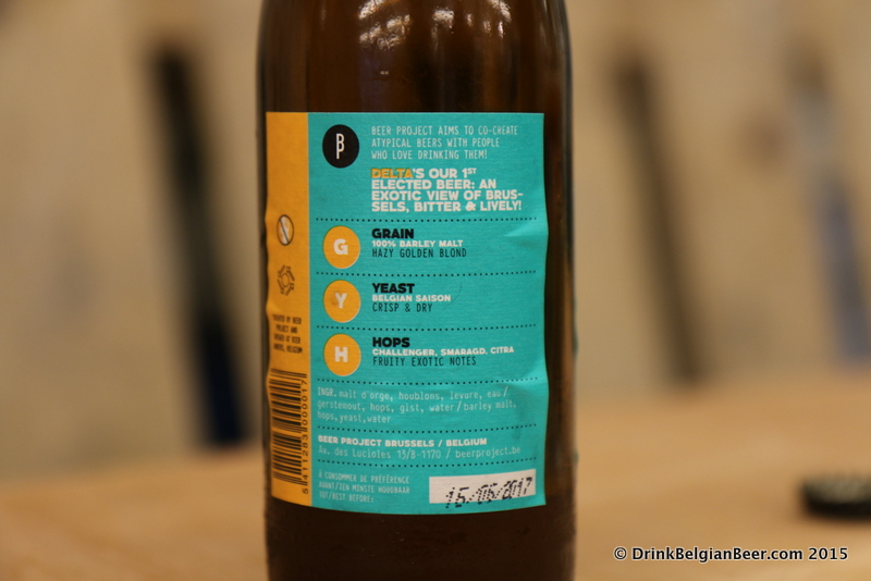 The Brussels Beer Project beers are very informative. No hiding ingredients or secrets here. This is the back label of Delta.