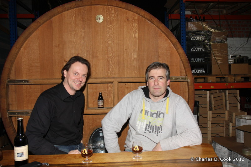 Left, Glenn Castelein and right, Davy Spiessens, the two co-founders of Brouwerij Alvinne.