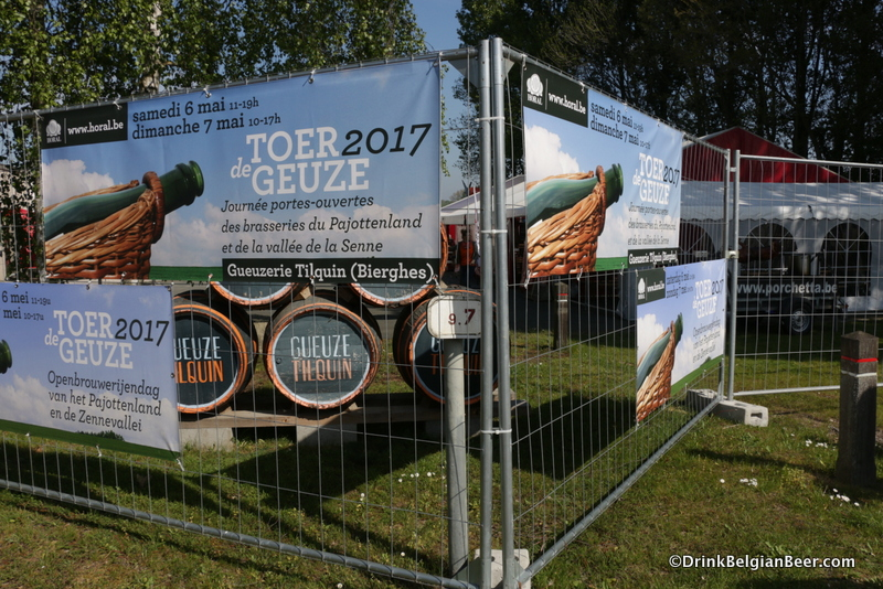 Barrels at Gueuzerie Tilquin during Tour de Geuze 2017.