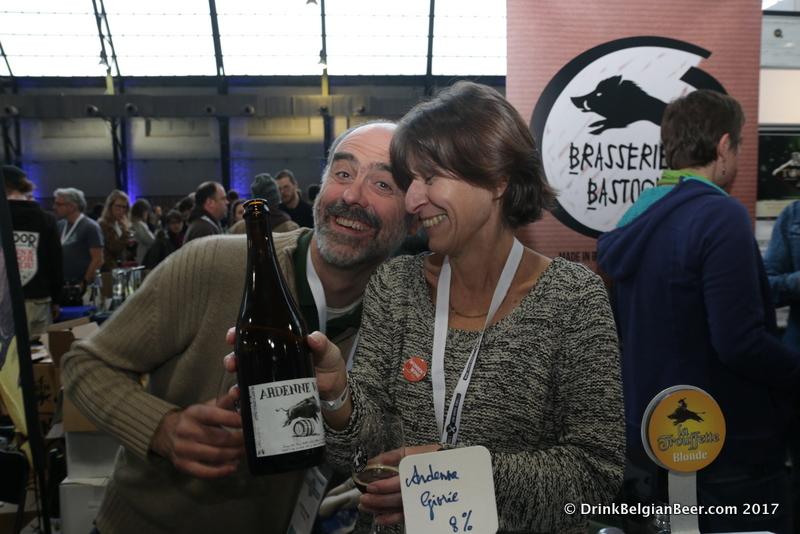 Philippe Minne (left) and Catherine Minne of Brasserie Minne (formerly Brasserie de Bastogne.)