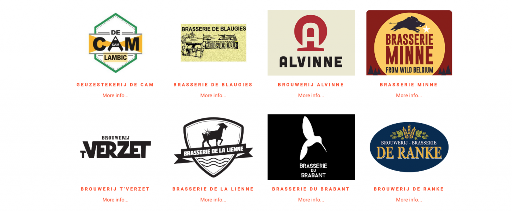Some of the breweries that will be present at the BXL fest on August 25-26.