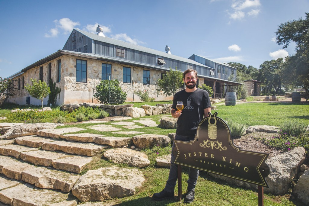 Jeffrey Stuffings at his Jester King Brewery in Austin, Texas. Photo courtesy Jester King Brewery.
