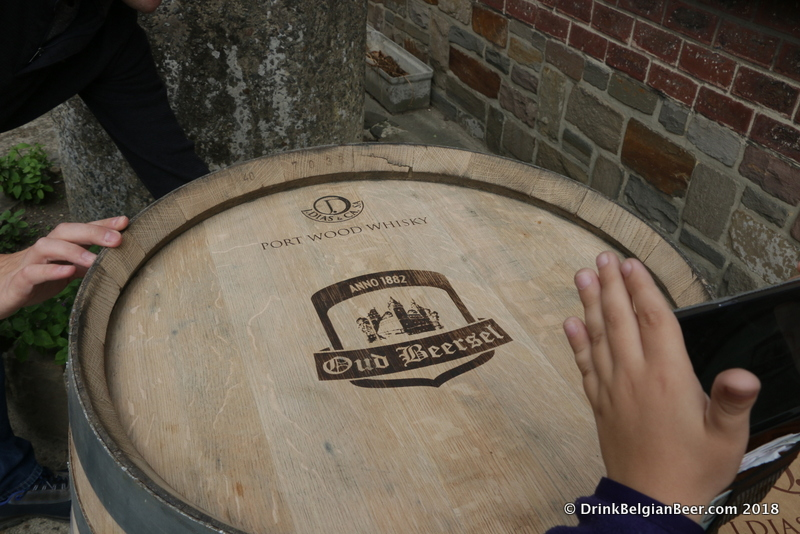 This barrel formerly held Port Wood Whiskey.