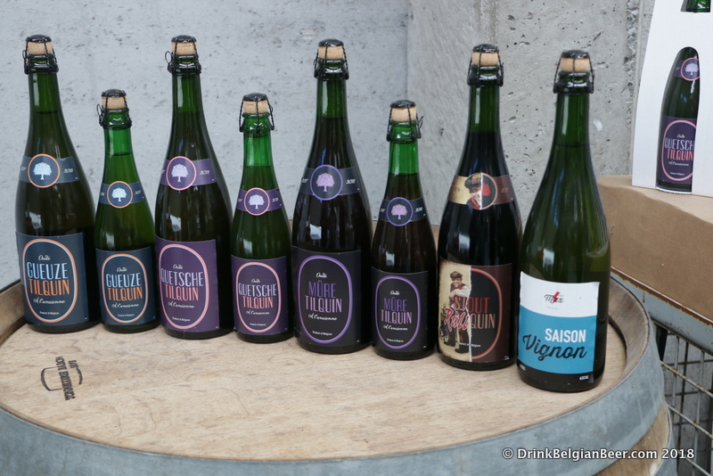 A lineup of most of the regularly available beers from Gueuzerie Tilquin.