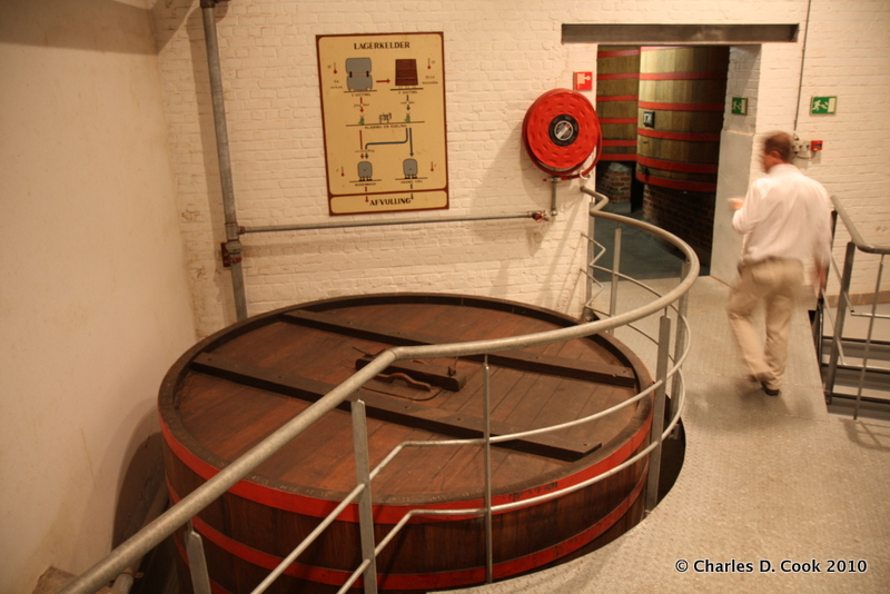 The entrance to a foeder hall at Brouwerij Rodenbach.
