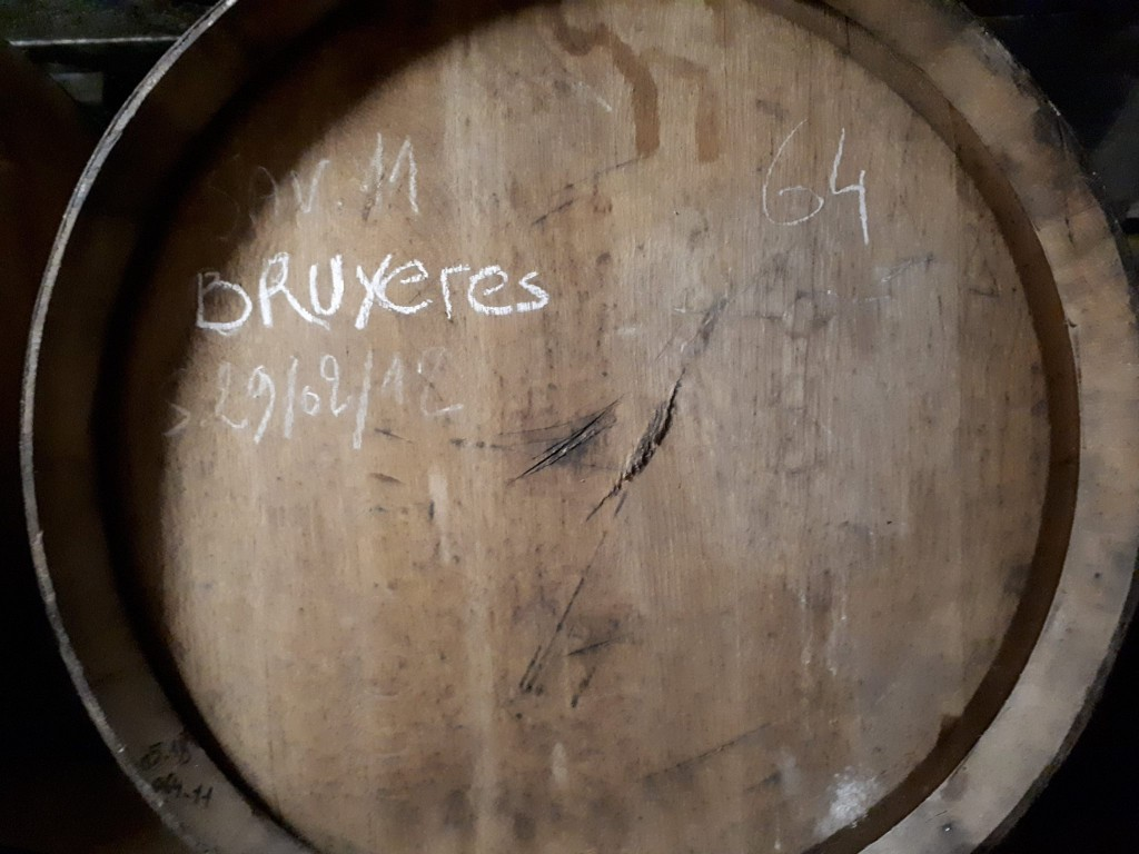 Another freshly emptied Vin Jaune barrel at Brasserie Cantillon in January 2018. Photo courtesy Brasserie Cantillon.