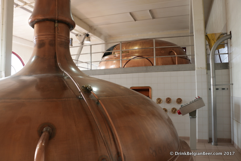 Inside the brewhouse at Brouwerij Lindemans.