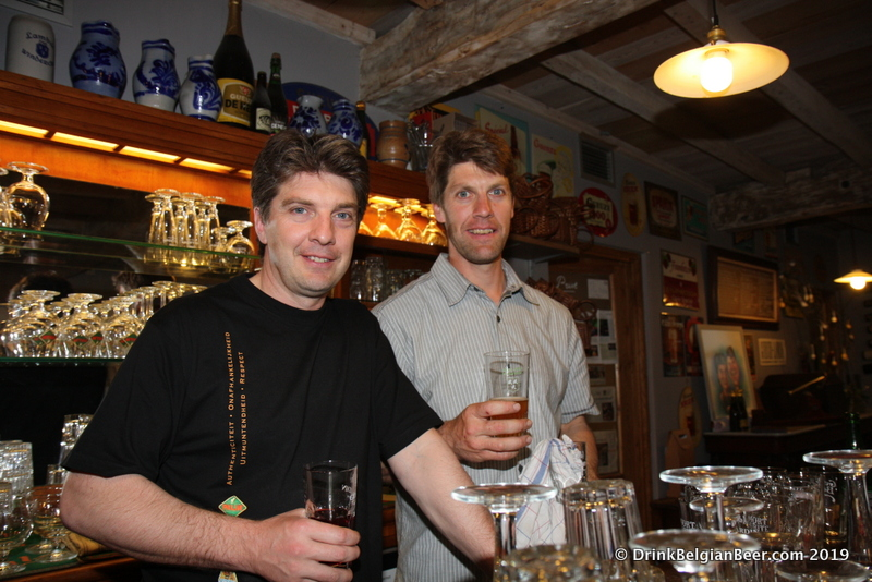 Left, Yves Panneels, and right, Kurt Panneels, the brothers that run In de Verzekering tegen de Grote Dorst in Eizeringen.