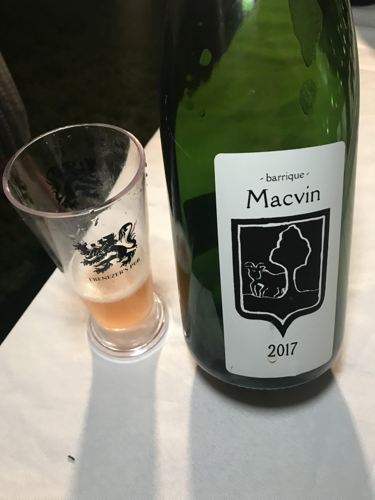 Bokke Macvin, a geuze blend aged on a Macvin barrel from Michel Gahier, Jura, France.