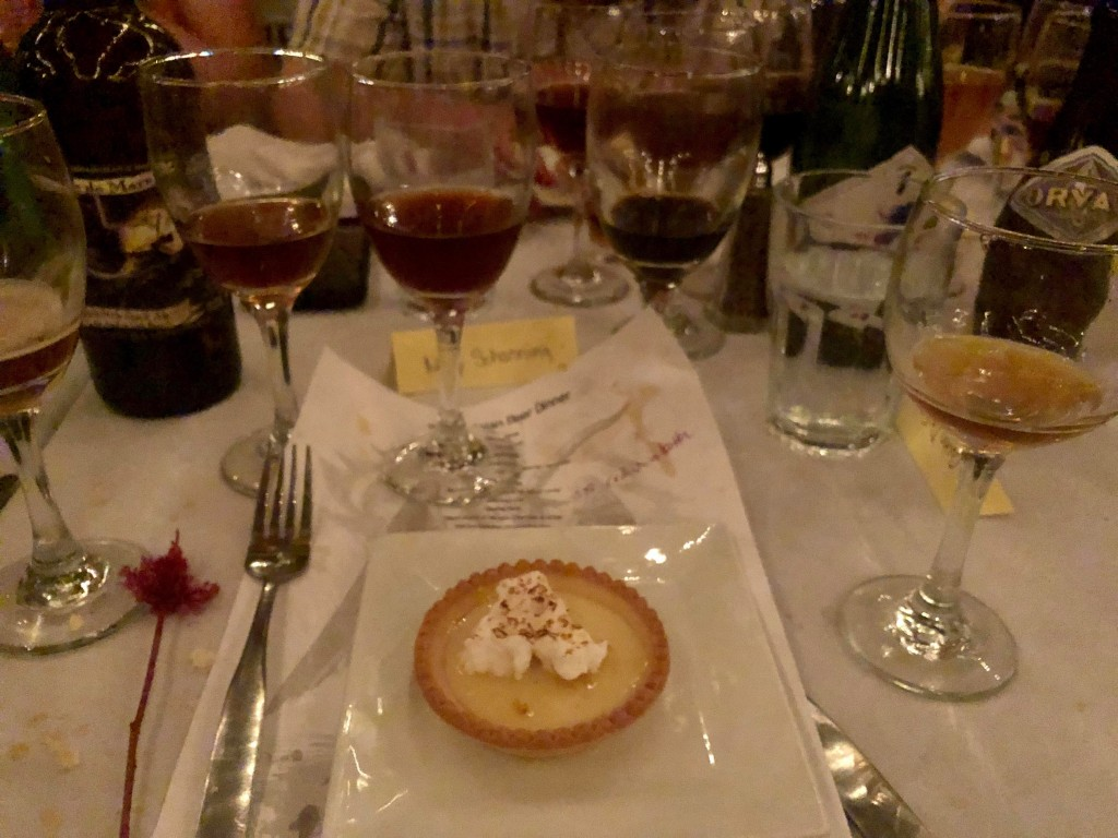 A second dessert course at the Ebenezer's Belgian Beer Dinner 2019: Lemon tart. Photo courtesy Mary Schanning.