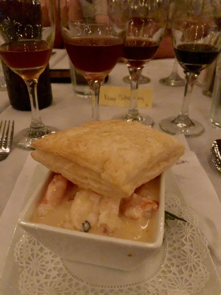 A Lobster pie course at Ebenezer's Belgian Beer Dinner, August 22, 2019.