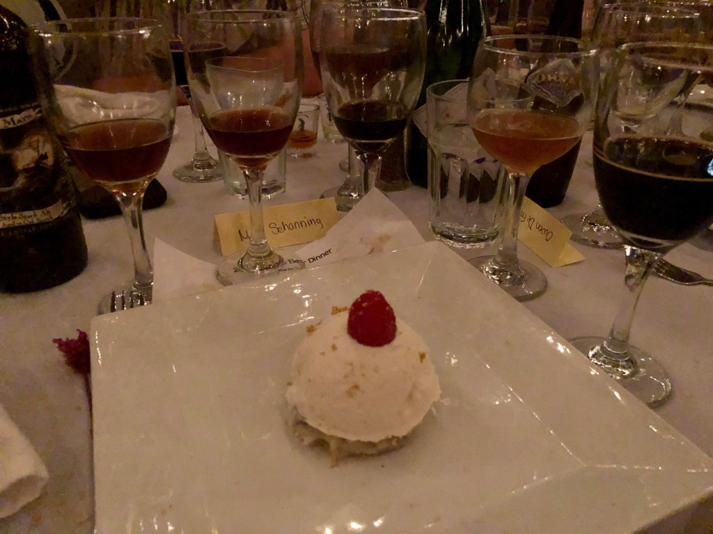One of the dessert courses at the Ebenezer's Belgian Beer Dinner 2019. Photo courtesy Mary Schanning.