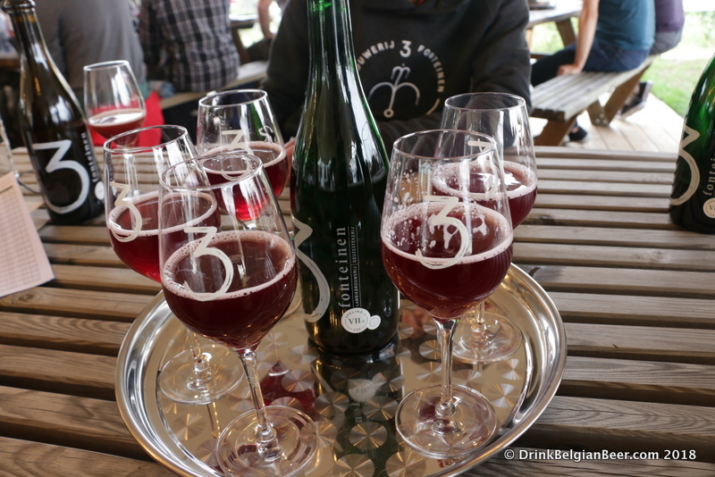 One of the experimental beers at 3 Fonteinen's Open Door Days in 2018.