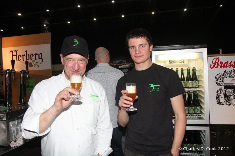 Armand Debelder (left) with Michaël Blanckaert at the Zythos Beer Fest in April 2012.