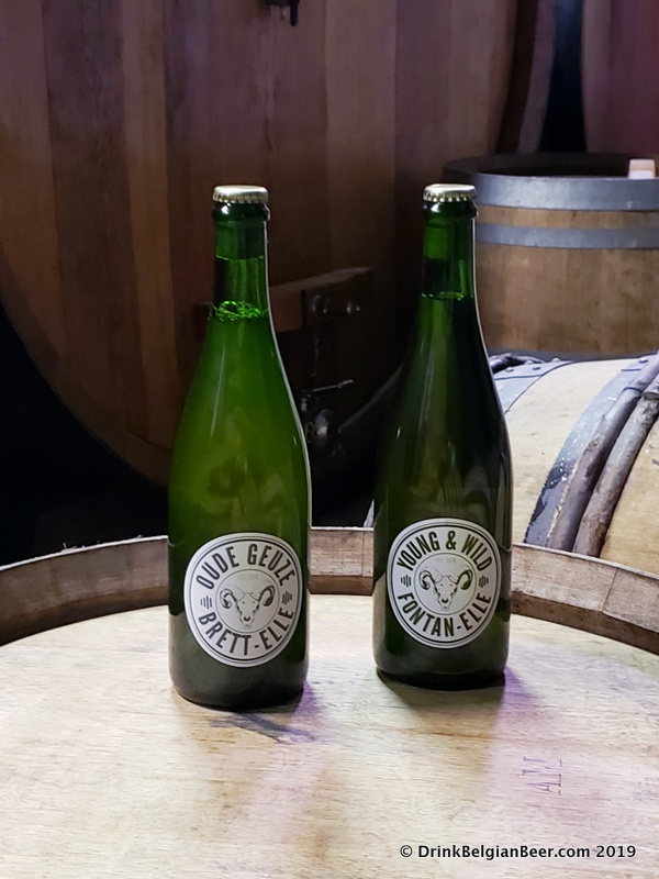 Oude Geuze Brett-Elle and and Young & Wild Fontan-Elle from Lambiek Fabriek.