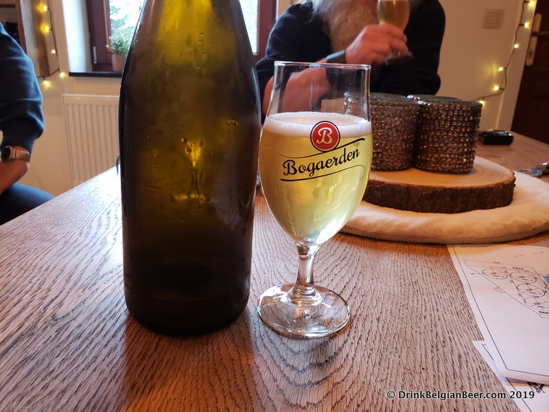 Brouwerij Sako is also experimenting with some non-lambic sour beers. This one shown had grapes from a local vineyard added as part of its recipe. It had a mild tartness and a noticeable aroma and taste from the white wine grapes.