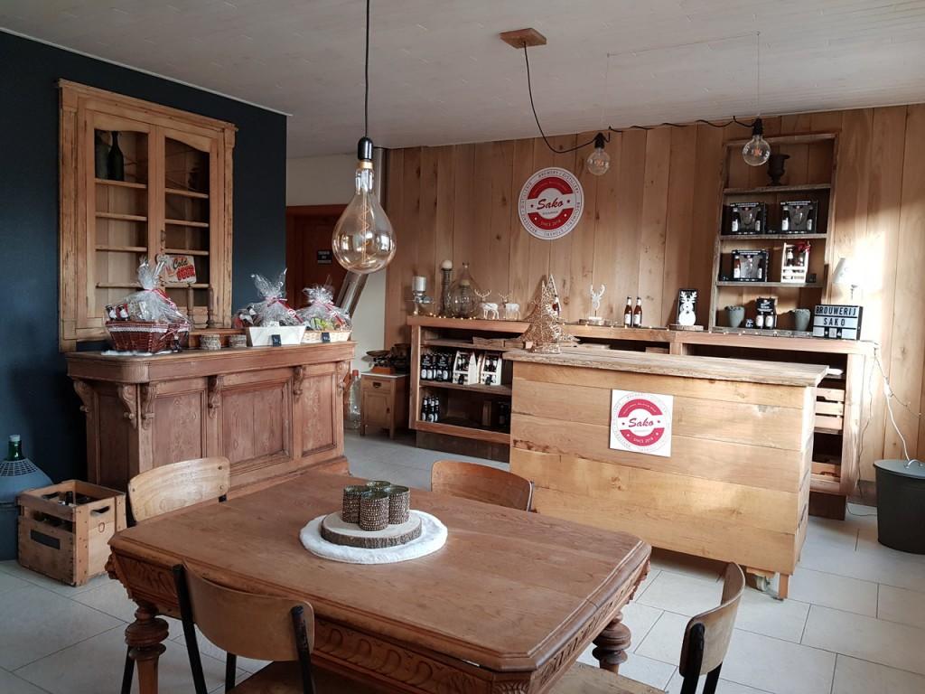 The shop at Brouwerij Sako.