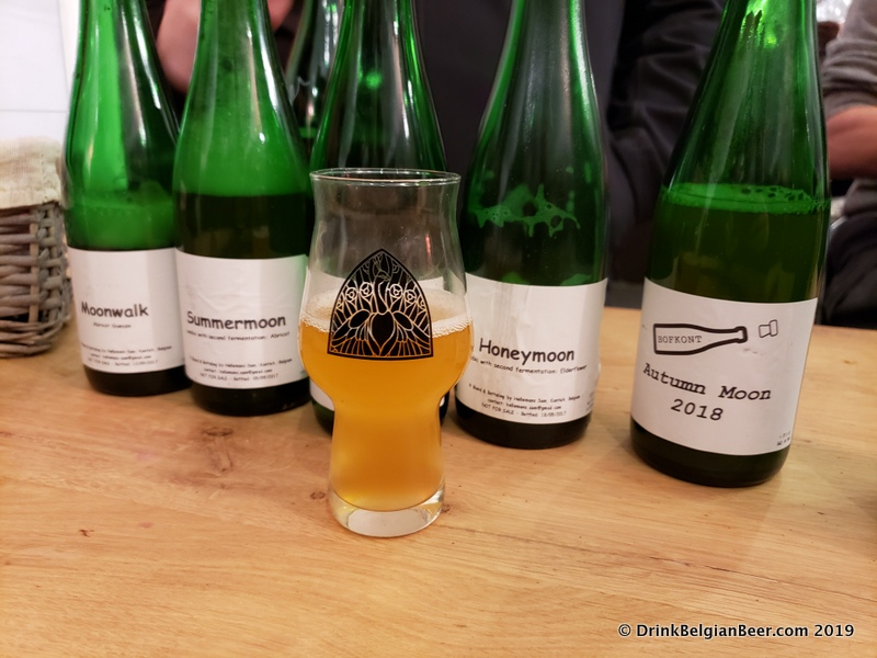 Some of the Bofkont beers available at the Gebrande Winning festival.