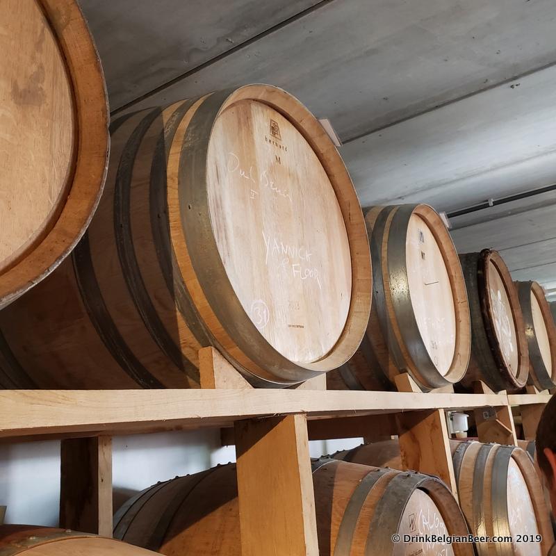 Some of the barrels at Antidoot-Wilde Fermenten in Kortenaken, Belgium.