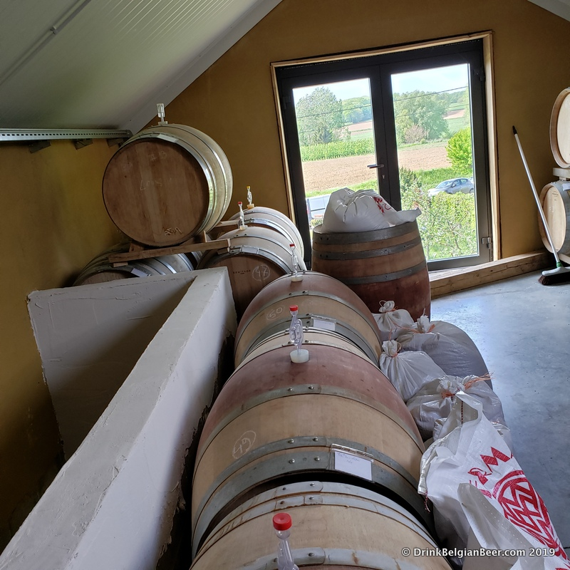 The 2nd floor of the Antidoot-Wilde Fermenten barrel room and brewery. The brewery is in the other half of the room, not shown.