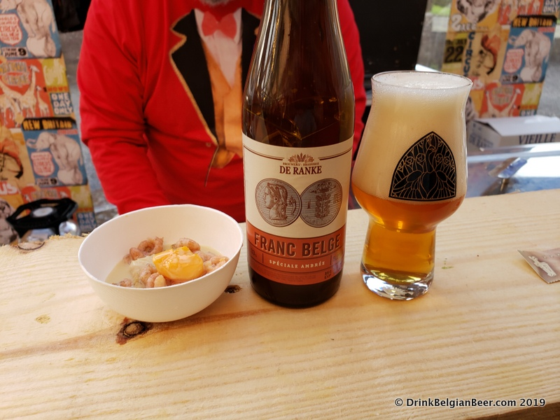 Brouwerij De Ranke Franc Belge Spéciale Ambrée paired very well with this dish of shrimp.